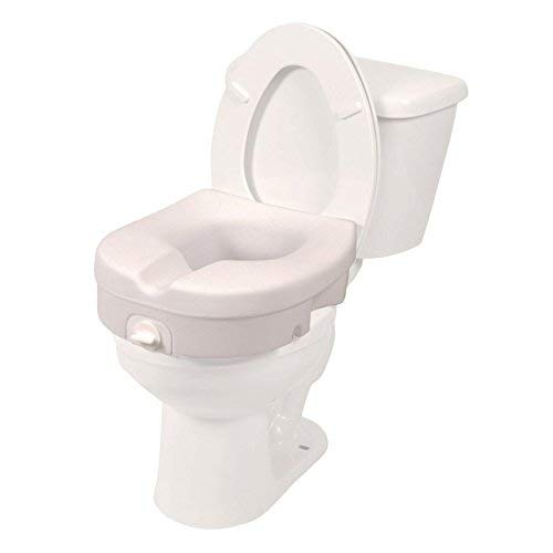 (PCP Elevated Toilet Seat, Raised 5 Inch Lift, Tightening Stability Lock, Portable Bath Safety Commode Support, Made in)