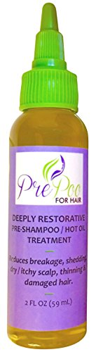 Hot Oil Treatment All Natural by PrePoo For Hair 2 oz