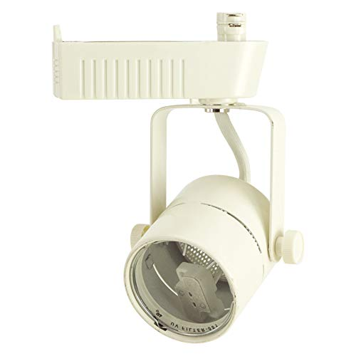D&D Brand H System MR16 Low Voltage Track Lighting Fixture White HTC-R10-WH (Head Only - No Bulb) (White)