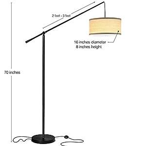 Brightech Orion Led Multiple Head Arc Lamp Modern 5 Arm