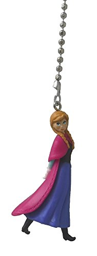 Disney Classic Disney FROZEN movie assorted Character Ceiling FAN PULL light chain (Anna - blue peasant dress pink cape) ()