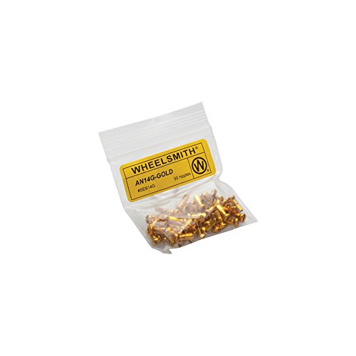 (Wheelsmith 2.0 x 12mm Gold Alloy Nipples, Bag of 50)