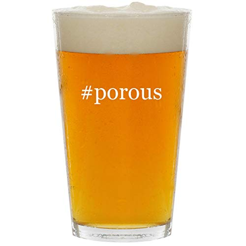 #porous - Glass Hashtag 16oz Beer Pint - Papermate Pens Clay
