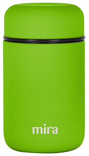 MIRA Lunch, Food Jar | Vacuum Insulated Stainless Steel Lunch Thermos | 13.5 oz | Cactus Green ()