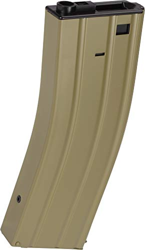 - Evike Matrix Full Metal 400 Round Flash Mag for M4 M16 Series Airsoft AEG - Tan