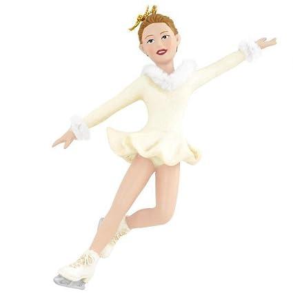 Christmas Ice Skating Dress.Christmas Ornament Figure Skater Girl Ice Skater Ornament By