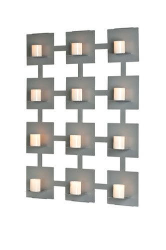 Mariano Metal Decor WA-11002-1-CAN-SIL Platinum Silver 12 Candle Sconce/Metal Wall Decor Art by Mariano Metal Dcor