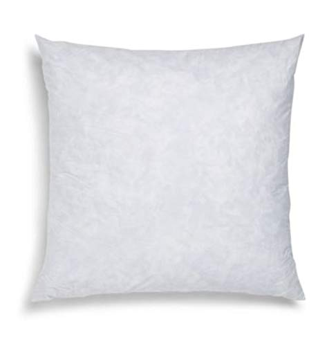 Blue Ridge Home Fashions, 26x26 Feather Euro (2 Pack),Hypoallergenic European Sleep Pillow Inserts Sham Square Form, White
