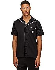 KARL LAGERFELD Pyjamas för män skjorta pyjamas topp, svart, S