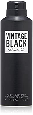 Kenneth Cole Vintage Black Body Spray, 6.0 Oz