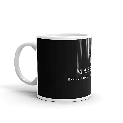 Mug Ceramic White Maserati 11 Oz YbIgf67yv