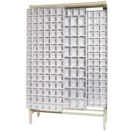 Quantum Gondola Free Standing Slider System With 52 Bins White