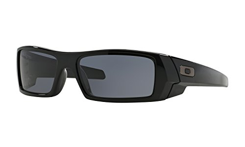 Oakley Gascan Sunglasses Polished Black with Grey Lens + - Sunglasses Oakley Customized
