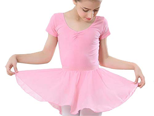 b56048895a Image Unavailable. Image not available for. Color: Rong Cun Toddler/Little  Girls/Big Girls Ballet Leotards for Girls Short Sleeve Tutu