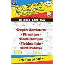 Lake Of The Woods Fishing Map Southwest Canadian Fishing Map