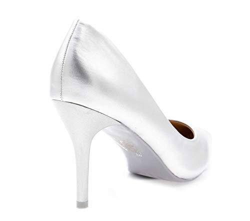 et Escarpin Chaussures Femme Haut la Fin Shoes 9cm Mariage Talon et Mode Escarpin Escarpin Argent à pour uni Fashion Femme Talon Couleur Cérémonie Chic Très qwOXvF5F