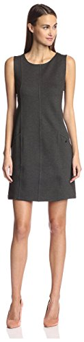 - SOCIETY NEW YORK Women's Seamed Shift Dress, Charcoal, L