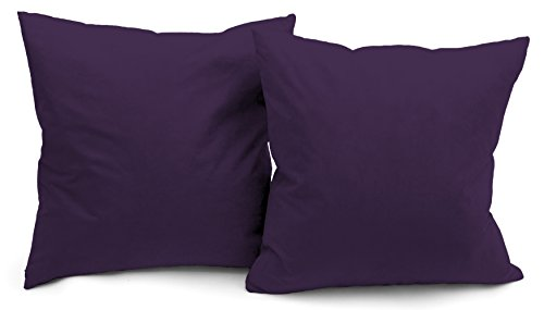 (Deluxe Comfort Modern Microsuede Throw Pillows - Down Feather Filled - Many Decorative Colors - Soft Microsuede Cover - Throw Pillow, Purple - Set of)