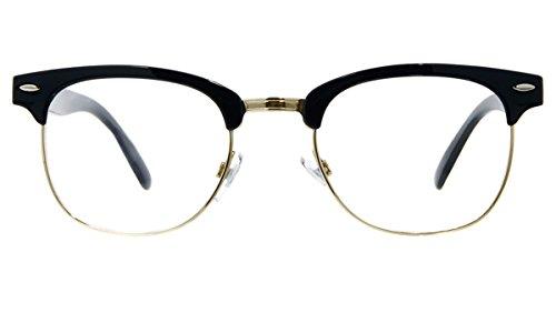 fake glasses half rim - 3