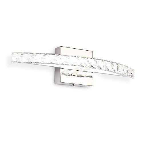 LED Vanity Lights 17.3in 10W Bathroom Vanity Light Fixtures Crystal Modern Vanity Lights Cool White 6000K Bathroom/Bedroom Mirror Lamps Wall Lights