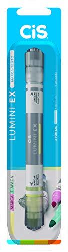 Marca Texto Lumini EX CIS, Ponta Dupla (Marca e Apaga) - Blister com 1 unidade, Sertic 58.8601, Amarelo Pastel