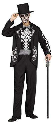 Fun World Men's Skeleton King Adult Costume, Multi, -