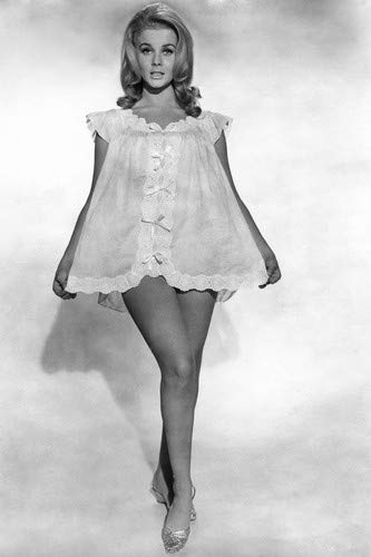 Ann-Margret sexy pin-up leggy in very short white neglige 24x36 Poster from Silverscreen