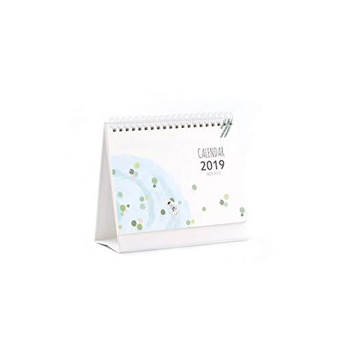 Liitrton Desk Calendar 2018 2019 Standing Calendar Twin-Wire Binding Monthly Planner Yearly Organizer (Summer) (2018 Desk Calendar Organizer)