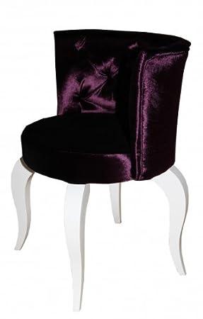 Casa-Padrino barroco Salón Silla púrpura/blanco - sillones ...