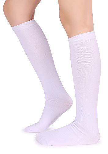 Pareberry Unisex Triple Stripes Soft Cotton Knee High