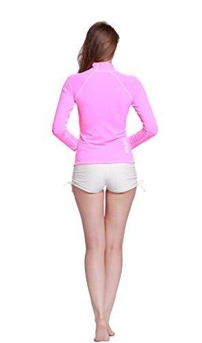 De natación para mujer pantalones cortos caliente pantalones Bikini protección UV erupción Swim Trunks blanco