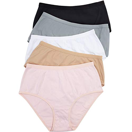 - Comfort Choice Women's Plus Size 5-Pack Stretch Cotton Full-Cut Brief - Basic Pack, 7