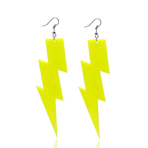 (Fashion punk style neon earrings for women and girls -neon yellow)
