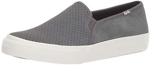 Keds Women's Double Decker PERF Suede Sneaker, Gray, 10 M US