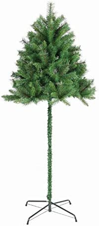Garden Store Direct Half Parasol Christmas Tree 5ft 6ft 7ft Green Or Snowy Flocked 6ft 180cm Green Amazon Co Uk Kitchen Home