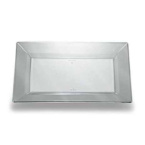 Clear 8 Inch Plastic Rectangular Plates - Case of 120  sc 1 st  Amazon.com & Amazon.com: Clear 8 Inch Plastic Rectangular Plates - Case of 120 ...