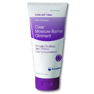 Ointment Barrier Moisture (Coloplast 627567 Critic-aid Clear Moisture Barrier Ointment 6 oz. Tube)
