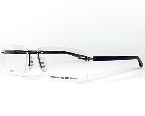Porsche Design frame (P-8205 H) Titanium - Plastic Matt Gun - Dark Lila (Lila Ray)