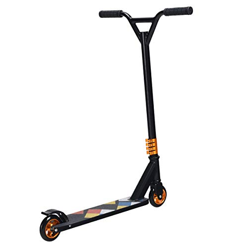 S AFSTAR Safstar Kick Scooter Lightweight Aluminum Freestyle Stunt with 2 Wheels for Kids Teenagers Adults (Black) (Best Stunt Scooter For 8 Year Old)