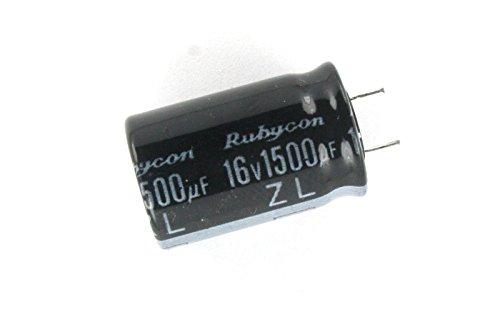 - 10pcs Rubycon ZL 1500uf 16v 105C Radial Electrolytic Capacitor Low ESR