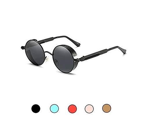 f6b9b1a74d4 50 Shades Tony Stark Steampunk Round Mirrored Men Women Sunglasses ...