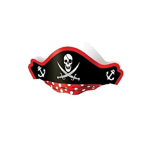 US Toy Pirate Captain Cardboard Party Hats Costume (2-Pack of 12) by U.S. Toy (Image #1)
