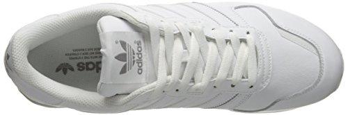 Adidas Originals Zx 700 Ejecución de la zapatilla de deporte estilo de vida, negro / gris sólido l White/White/Light Granite