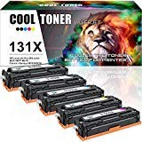 Cool Toner Compatible Toner Cartridge Replacement for HP 131X CF210X 131A CF210A CF211A CF212A CF213A for HP Laserjet Pro 200 Color M251nw Mfp M276nw M276n, Canon MF8280Cw LBP7110Cw Printer Ink-5 Pack
