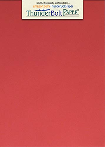 125 Bright Apple Red Color Cardstock 65# Cover Paper - 5