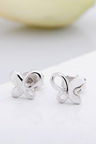 Thai Love You Butterfly Earrings earings Dangler Eardrop s925 Sterling Silver Women Girls Personality Elegant Woman Presents Unique Fashion Jewelry by KGELE Earrings