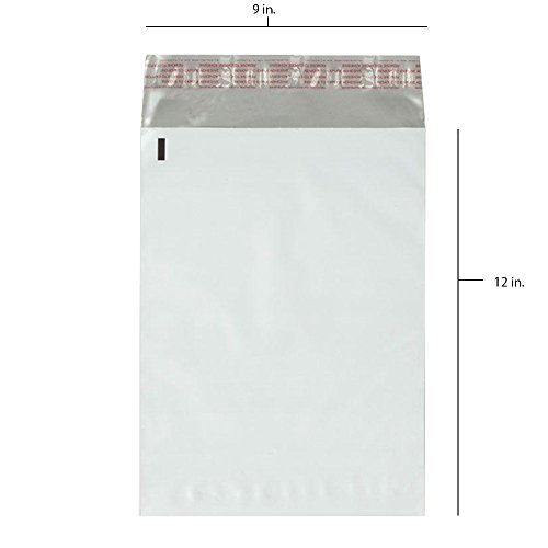 50 - 9x12 Fosmon Self-Seal Tear-Proof Polyethylene Mailers (50 - Lable Ups