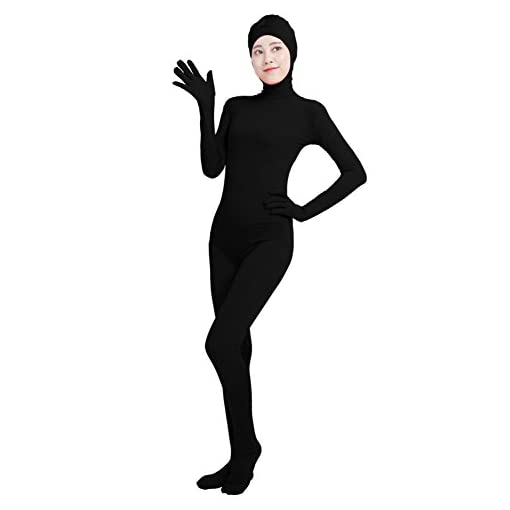 Ensnovo Womens Adult Open Face Full Body Spandex Suit Zentai Bodysuit Costumes