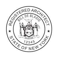 ARCHITECT SUPPLIES // NEW YORK // CUSTOMIZED / PERSONALIZED REGISTERED  ARCHITECT PROFESSIONAL SEAL /