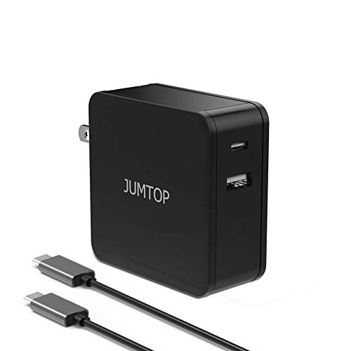 JUMTOP PD charger, USB Type C Wall Charger with 60W Power Delivery 3.0 fast charge, UL Certified Ultra-Compact Travel Foldable Plug Quick Charge,compatible USB-C devices that support USB Power Deliver